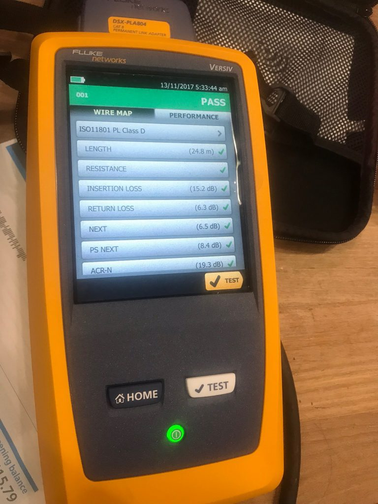 Fluke DSX 8000 Test Equipment
